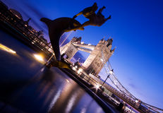 Tower Bridge at Twilight Stock Images