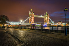 Tower Bridge at twilight (London) Stock Image