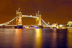 Tower bridge UK by night Stock Image