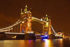 Tower bridge UK by night Royalty Free Stock Photo
