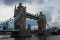 Tower Bridge. View on Tower bridge at evening Royalty Free Stock Photos