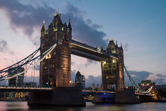 Tower Bridge. View on Tower bridge at evening Royalty Free Stock Photography
