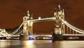 Tower Bridge. The view on night Tower Bridge Royalty Free Stock Photography
