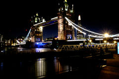 Tower Bridge - view from St. Katharine Pier Stock Photos