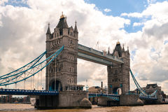 The Tower Bridge. View from the Thames at Tower Bridge Royalty Free Stock Image