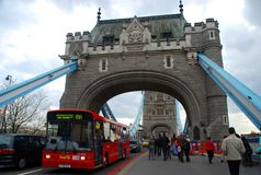 Tower Bridge walk. London, England Royalty Free Stock Photos
