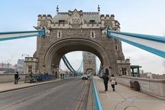 Tower bridge walk Royalty Free Stock Photo