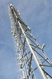 Tower with broadcast antenna system Royalty Free Stock Photography