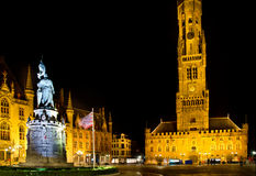 Tower in bruges Stock Images