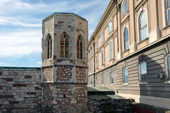 Tower in the Buda Castle in Budapest Stock Image