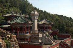 The Tower of Buddhist Insense in the Summer Palace, Beijing, Chi Royalty Free Stock Photography
