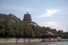 The Tower of Buddhist Insense in the Summer Palace, Beijing, Chi Stock Images