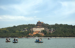 The Tower of Buddhist Insense in the Summer Palace, Beijing, Chi Stock Image