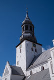 The tower of Budolfi Church, Aalborg, Denmark Royalty Free Stock Images