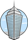 Tower building. Illustration of a tower building Stock Image