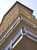 Tower building. Vidraru dam, Romania Stock Photos