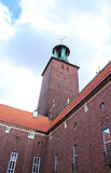 Tower of the building of a City Hall, Stockholm Royalty Free Stock Photo