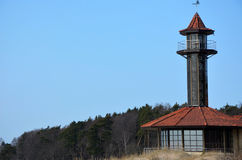 Tower building on the sea Stock Photography