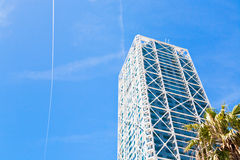 Tower building under blue sky Stock Photos