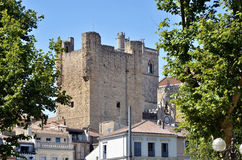 Tower and buildings at Narbonne in France Royalty Free Stock Image