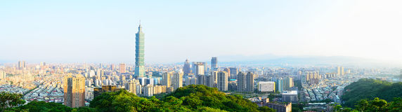 101 Tower and buildings in Taipei, Taiwan Royalty Free Stock Photo