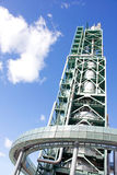 Tower of burning fuel gas Stock Photos