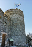 Tower of the Byzantine castle in Kavala, East Macedonia and Thrace Royalty Free Stock Photos