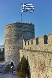 Tower of the Byzantine fortress in Kavala, East Macedonia and Thrace Stock Images