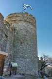 Tower of the Byzantine fortress in Kavala, Greece. Tower of the Byzantine fortress in Kavala, East Macedonia and Thrace, Greece royalty free stock photo