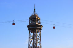 Tower cableway Stock Image