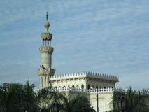 Tower of Cairo with a minaret of the Sultan Hassan in Cairo in Egypt stock photos