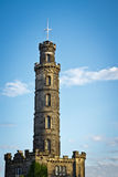 Tower in Calton hill in Edinburgh Stock Images