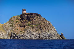 Tower on Capraia island Elba Royalty Free Stock Photography