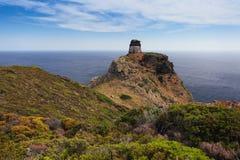 Tower on Capraia island Elba, Tuscany, Italy, Europe Royalty Free Stock Image