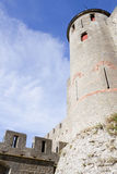 Tower of Carcassonne city with red windows Stock Photography