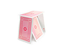Tower of cards Royalty Free Stock Image