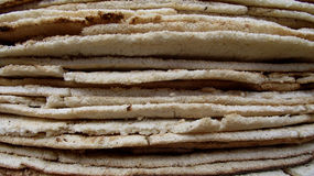 Tower of cassava bread royalty free stock images