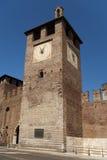 Tower by castelvecchio bridge in Verona Royalty Free Stock Photo