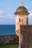 Tower in Castillo de San Cristobal, Puerto  Rico Royalty Free Stock Photos