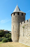 Tower of the Castle. Tower and pit of the castle of the Cite of Carcassonne Stock Images