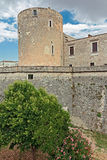 Tower of castle aragonese. Of Venosa in Basilicata Royalty Free Stock Photography