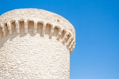 Tower of castle of Badiali island of San Nicola Royalty Free Stock Image