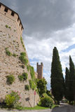 Tower of the castle in Gradara Stock Photo