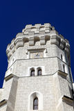 Tower of castle at Hluboka nad Vltavou town Stock Image