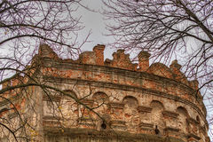 Tower of the castle if Ostrog Royalty Free Stock Image