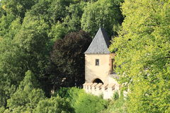 Tower on Castle Karlstejn Stock Photography