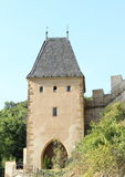 Tower on Castle Karlstejn Stock Photo