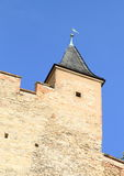 Tower on Castle Karlstejn Royalty Free Stock Images