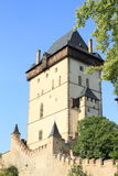 Tower on Castle Karlstejn Royalty Free Stock Photos