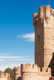 Tower of the castle La Mota, Spain Stock Image